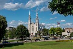 Ottawa: Basílica da catedral de Notre-Dame foto de stock