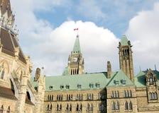 Ottawa byggnader av parlamentet 2008 Arkivbild