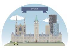Ottawa, Canadá ilustración del vector