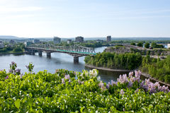 Ottawa, Canada. The picture of the bridge in Ottawa, Canada Royalty Free Stock Photos
