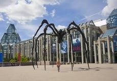 OTTAWA, CANADA - AUGUSTUS 19, 2014: Spinbeeldhouwwerk dichtbij het National Gallery van Canada Royalty-vrije Stock Foto