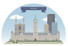 Modern Ottawa City Skyline Design. Canada Stock Vector - Image ...