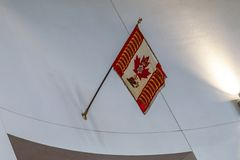 Ottawa CANADA - February 18, 2019: the cultural and national heritage of the Canadian state flag of the Confederation. The cultural and national heritage of the royalty free stock photography