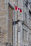 Ottawa CANADA - February 18, 2019: the cultural and national heritage of the Canadian state flag of the Confederation. The cultural and national heritage of the royalty free stock photo