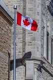 Ottawa CANADA - February 18, 2019: the cultural and national heritage of the Canadian state flag of the Confederation. The cultural and national heritage of the royalty free stock images