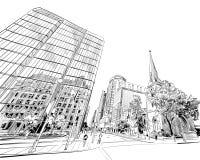 Ottawa. Canada. Hand drawn. Unusual Street sketch, vector illustration. Ottawa. Canada. Hand drawn cityscape. Unusual Street sketch, vector illustration stock illustration