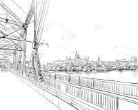 Ottawa. Canada. Hand drawn. Unusual Street sketch, vector illustration. Ottawa. Canada. Hand drawn cityscape. Unusual Street sketch, vector illustration vector illustration
