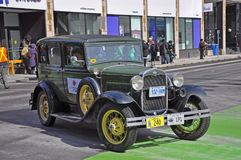 Antique Car in Saint Patrick's Day parade Ottawa, Canada Royalty Free Stock Photo