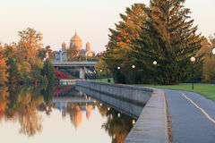 Ottawa Canal and fall colors Royalty Free Stock Image