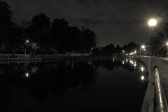 Ottawa Canal at Night Royalty Free Stock Photography