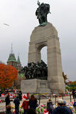 Ottawa Cenotaph and Parliament Buildings days after shooting Stock Image