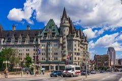 Ottawa Château Laurier Stary hotel Zdjęcia Stock