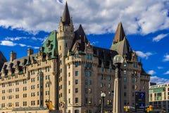 Ottawa Château Laurier Stary hotel Obraz Royalty Free