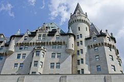 Ottawa Chateau. A side view of the Fairmont Chateau Laurier Hotel in downtown Ottawa, Canada. A few minutes walk from Parliament Hill royalty free stock image