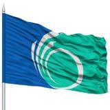 Ottawa City Flag on Flagpole Stock Photo