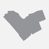 Ottawa city map in gray on a white background Royalty Free Stock Photography