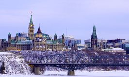 Ottawa Cityscape Royaltyfri Bild