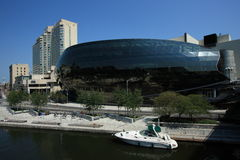 Ottawa Convention Centre and Boat Royalty Free Stock Photography
