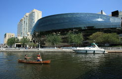 Ottawa Convention Centre and Canoe Royalty Free Stock Images