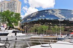 Ottawa Convention Centre beside Rideau Canal Stock Image