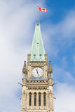 Ottawa-Friedenskontrollturm Stockfoto
