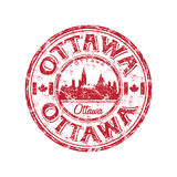 Ottawa grunge rubber stamp Royalty Free Stock Photos