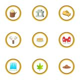 Ottawa icons set, cartoon style Royalty Free Stock Images