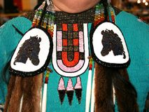 Ottawa Indische Beadwork Stock Foto's