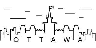 Ottawa konturu ikona Może używać dla sieci, logo, mobilny app, UI, UX royalty ilustracja
