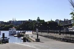 Ottawa, le 26 juin : Paysage et port de berge d'Ottawa de Gatineau dans la province d'Ontario photos stock
