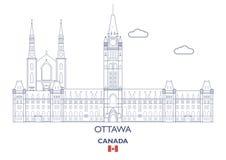 Ottawa City Skyline, Canada Royalty Free Stock Photo
