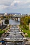 Ottawa Locks along the Rideau Canal Stock Image