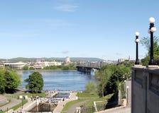 Ottawa Locks and River May 2008 Stock Photography