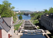 Ottawa Locks and River 2008 Royalty Free Stock Image