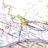 Ottawa map Royalty Free Stock Photos