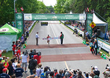 Ottawa Marathon Women's Winner Royalty Free Stock Photos