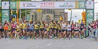 Ottawa maraton 2013 zdjęcie royalty free