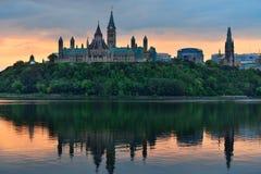 Ottawa morgon Arkivfoto