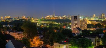 Ottawa na noite imagens de stock royalty free