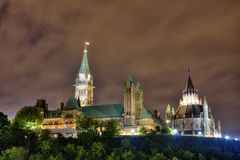 Ottawa by night Stock Image