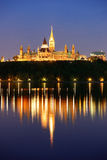 Ottawa at night Stock Photography