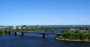 Ottawa ontario alexandra bridg Stock Images