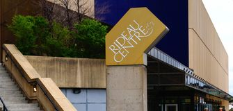 Rideau Center inscription on the building stock photography
