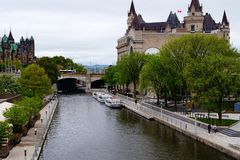 Rideau Canal in Ottawa stock photography