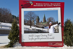 OTTAWA, ONTARIO/CANADA - March 8, 2014: The Rideau Canal Skatewa Stock Photography