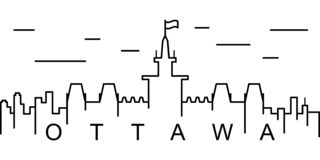 Ottawa outline icon. Can be used for web, logo, mobile app, UI, UX royalty free illustration