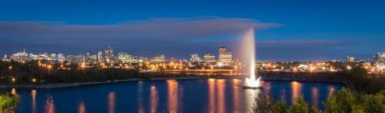 Ottawa på skymning Royaltyfria Foton
