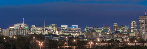 Ottawa på skymning Royaltyfri Bild