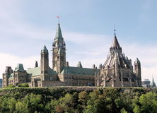 Ottawa parlament 2008 Royaltyfri Foto