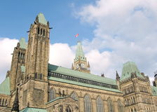 Ottawa parlament som bygger 2008 Royaltyfri Bild